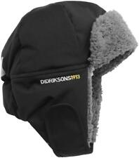 Didriksons Biggles Kids Fleece Lined Hat Season Black (060) 52 Cm (head Circumference)