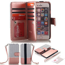 Leather Removable Wallet Card Case Magnetic Flip Cover For iPhone 6 6S 7 Plus