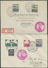 GERMANY #C57-C58 (2) DIFFERENT HINDENBURG FLIGHT COVERS BS2430