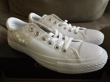 86ded581edc8 Converse CTAS Madison OX Size 7 Women s Shoes Leather White Silver 555830C  NEW