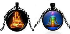 2 Colliers Pendentif Yogi Flamboyant et Chakras méditation, Yoga.
