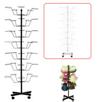 35 Hats Caps Holders,7 Tiers Metal Hat Rotating Display Rack Stand 57x55x156CM