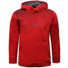 Under Armour Boys Hoodie Graphic Sweatshirt Red 1299352 601