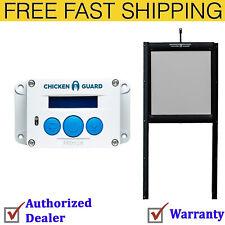ChickenGuard Automatic Chicken Coop Door Opener with Self Locking Door Kit.