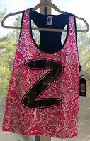 NEW Zumba Wear BEACH BALLER RACERBACK ~ Back To Black ~ Size XL / XLovely