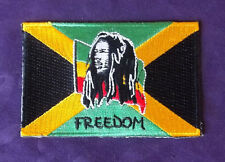 BOB MARLEY PATCH FREEDOM JAMAICA FLAG  REGGAE SKA RASTA