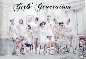 """GIRLS GENERATION """"WHITE DRESSES & HEADBANDS"""" ASIAN POSTER - Korean K-Pop Music"""