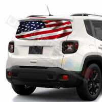Flags Decals Rear Window See Thru Stickers Perforated for Jeep Renegade 2020 kit