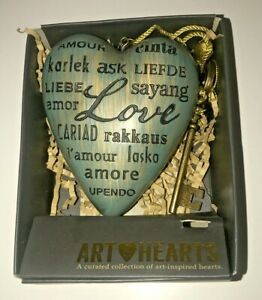 Art Hearts By Demdaco Love Heart With Key Can Stand Or Hang Up.