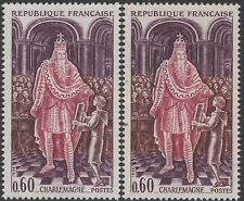 "FRANCE TIMBRE N° 1497 "" CHARLEMAGNE VARIETE COULEUR"" NEUF xx TTB K134"