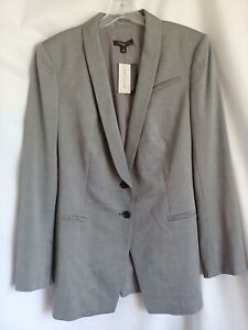 Anne Taylor LW Gray Wool Suit Jacket 12
