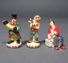 Vintage French Fèves Figurines, Clowns, Circus, Dog,Epiphany King's Cake,3 pcs