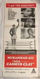 MUHAMMAD ALI AKA CASSIUS CLAY ORIGINAL Cinema Movie Poster 1970 N MINT Condition