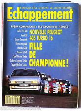 Echappement n°289; Peugeot 405 Turbo 16/ Essai Alfa 155 Q4/ Audi S2/ Subaru Lega