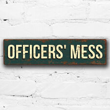 More details for officers mess 40cm wood sign army military vintage style raf wall plaque dining