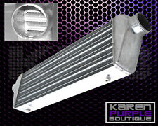 """28"""" x 7"""" x2.5"""" SILVER ALUMINUM TUBE AND FIN TURBO FMIC INTERCOOLER WITH BRACKET"""