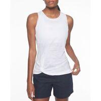 ATHLETA - 100% Linen White Knot Zephyr Tank Top Shirt - Women's Size Small 🔥
