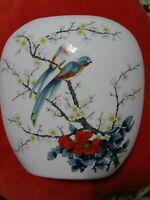 Jay Porcelain Bird Vase. Japan. Spring.