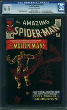 Amazing Spider Man # 28 US Marvel 1965 1st Molten on-Ditko CGC 6.5 FN +