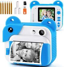 PROGRACE Kids Instant Print Digital Camera Printer Video 1080P