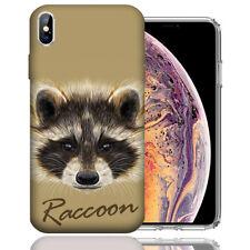 MUNDAZE Apple iPhone Xs &  X Design Case - Raccoon Realistic Art Cover