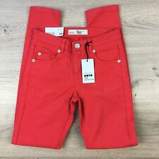 Top Shop Moto Jamie High Waist Skinny Petite Red Womens Jeans Sz 4 W24 NWT (I20)