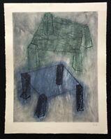 Rolf Rose, Basis, Farbradierung, 1986, handsigniert und datiert