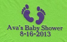 BABY FEET LOGO 50 Personalized printed LUNCHEON DINNER napkins