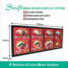 A2 x4 Swift LED MENU BOARD DISPLAY SYSTEM -ILLUMINATED MENU DISPLAY LIGHT BOX