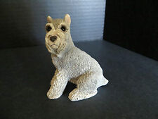 Vintage resin schnauzer dog with copyright code BOUCD  #224
