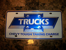 NOS Bowtie Chevrolet Pickup Trucks GM Dealer Dealership License Plate Nice!