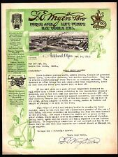 F E Myers Bros Force and Lift Pumps Hay Tools Ashland Ohio 1915 Color Letterhead