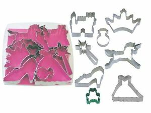 Princess Cookie Cutters Fairytale 8 Piece Set Fox Run Cookie Cutters BNIP