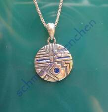 Pendant Indian Jewelery Reproduction Native American Silver 925 ENAMELED