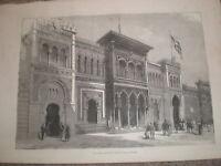 Paris Exhibition Spain Spanish Pavilion 1878 print ref Y1