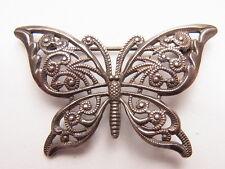 Alte Butterfly  Schmetterling Filigransilber Brosche Brooch Falter Silber Nr.7