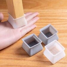 16pcs Chair Leg Caps Square Silicone Table Cover Feet Pads Floor Protectors