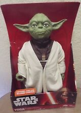 "Disney Star Wars YODA 18"" Inch Action Figure Doll Lightsaber 2015 Jakks Pacific"