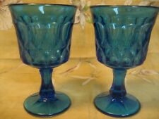 Set of 2 + 1 = 3 Noritake PERSPECTIVE Blue Wine Goblet  Minty!  Lot C
