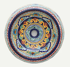 Mexican Talavera Round Vessel Sink Donut Ceramic Handpainted # 05