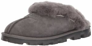 Ugg Australia Womens Coquette Leather Closed Toe Slip On, Grey, Size 10.0 upJR