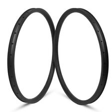 29er Asymmetric Mountain Bike Carbon Rim 35mm Width XC Tubeless MTB 32H UD 1Pair