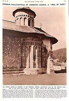 "1935.ILN.Romania.Bukovina.Apse.Voronetz.Church.""Tree of Jesse"".Wall-paintings"