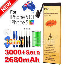 Premium For Apple iPhone 5S 5C Replacement Battery 2680mAh Li-ion Gold Tools Kit
