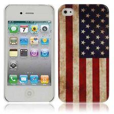 Hülle f Apple iPhone 4 4s Schutzhülle Tasche Case USA Flagge Hardcase Amerika