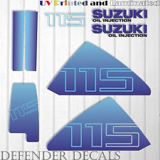 Suzuki 115 hp DT115 outboard engine decal sticker set kit reproduction 115HP