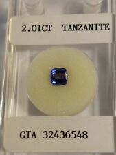 2.01ct Square Cushion NATURAL TANZANITE - Estate Collection
