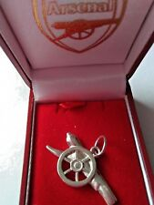 925 STERLING SILVER OFFICIAL LICENCED ARSENAL FOOTBALL PENDANT  AR2943156