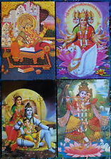 Hindu Postkarte Set (7) Ganesh - Gayatri - Shiva Family - Radha Krishna