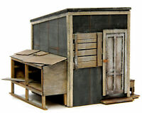 BANTA 2144 HO HON3 LINESIDE SHED Model Railroad Building Wood Kit FREE SHIP